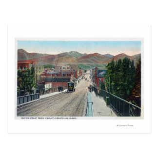 Viaduct View of Center StreetPocatello, ID Postcard