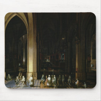 Viaticum in the Interior of a Church Mouse Pad