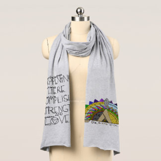 Vibe Out with my Tribe Out rainbow Scarf