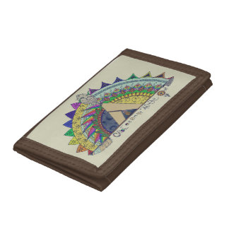 Vibe Out with my Tribe Out rainbow Tri-fold Wallet
