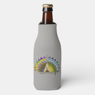 Vibe Out with my Tribe Out space rainbow Bottle Cooler