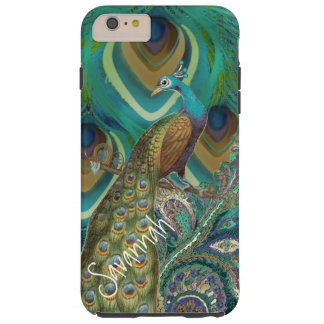 Vibe Vintage Damask Peacock Feathers iPhone Tough iPhone 6 Plus Case
