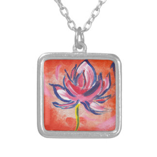vibrance silver plated necklace