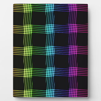 Vibrant Abstract Background Plaque
