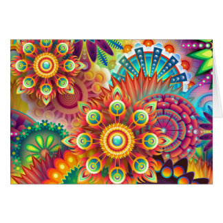 Vibrant Abstract Card