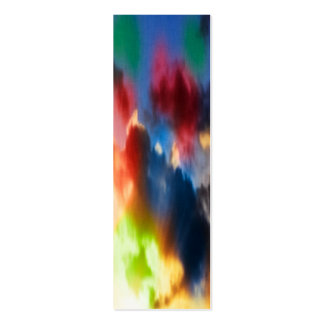 Vibrant abstract clouds pack of skinny business cards