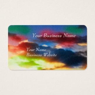 Vibrant abstract clouds business card