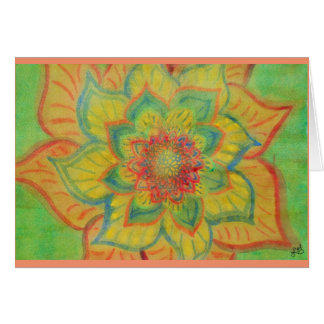 Vibrant Abstract floral watercolor Greeting Card