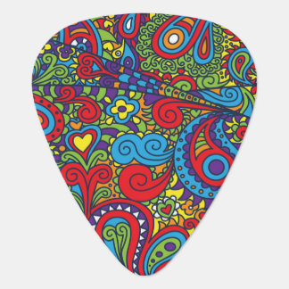 Vibrant abstract pattern guitar pick