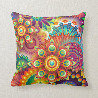 Vibrant Abstract Pillow