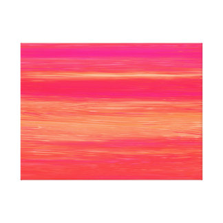 Vibrant Abstract Sunset Paint Strokes Pattern Canvas Print