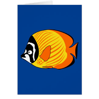 Vibrant and Colorful Cartoon Butterfly Fish Card