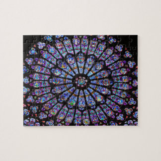 Vibrant and Colourful Notre Dame Stained Glass Puzzles