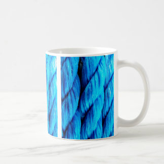 Vibrant Aqua Blue Boat Rope - Nautical Print Coffee Mug