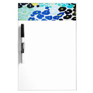 Vibrant Aqua Blue Lime Leopard Print Dry-Erase Whiteboards
