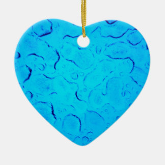 Vibrant Aquamarine Turquoise Rain on glass Ceramic Ornament