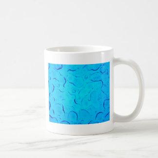 Vibrant Aquamarine Turquoise Rain on glass Coffee Mug
