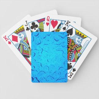 Vibrant Aquamarine Turquoise Rain on glass Poker Deck