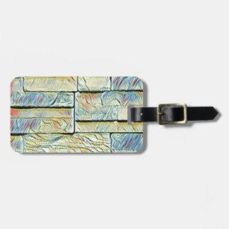 Vibrant Artistic Pastel Colored Bricks Luggage Tag