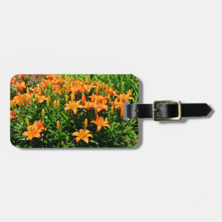 Vibrant Asian Lilies Luggage Tag