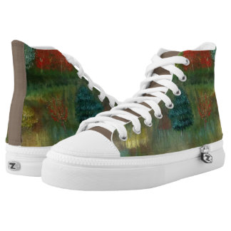 Vibrant Autumn High Top Sneakers