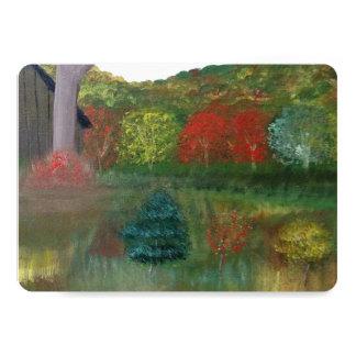 Vibrant Autumn Matte Invitations 5x7