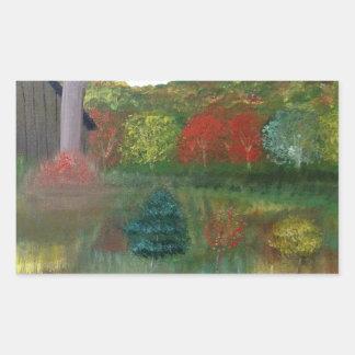 Vibrant Autumn Rectangle Stickers