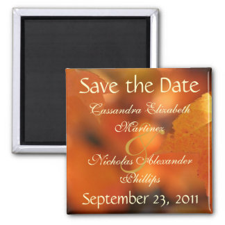 Vibrant Autumn Save the Date Wedding Magnet