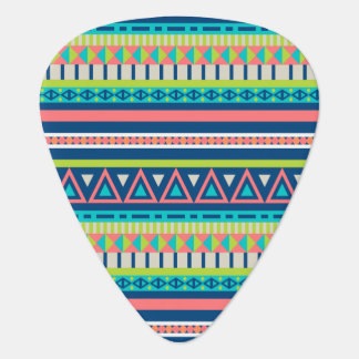 Vibrant Aztec Pattern Guitar Pick