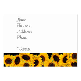 Vibrant Beautiful Sunflowers Nature Floral Prints Pack Of Chubby Business Cards
