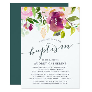 Vibrant Bloom | Baptism Invitation
