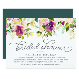 Vibrant Bloom Bridal Shower Invitation