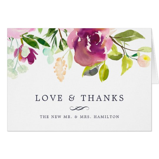 Vibrant Bloom | Floral Thank You Card