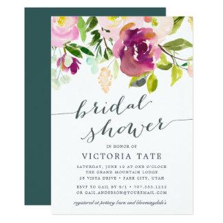 Vibrant Bloom Watercolor Bridal Shower Invitation