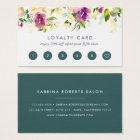 Vibrant Bloom | Watercolor Floral Loyalty Business Card