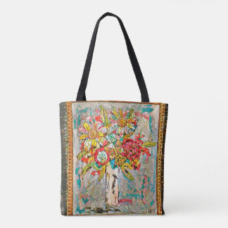 Vibrant Blooms Tote