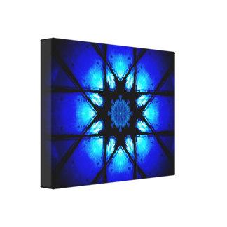 Vibrant Blue Mandala Canvas Print