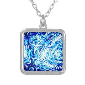 Vibrant Blue Pattern Custom Jewelry