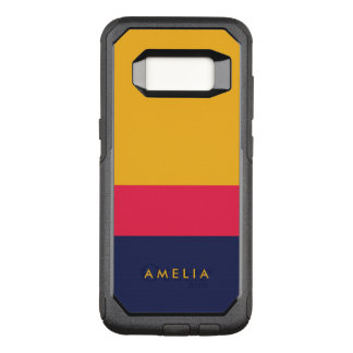 Vibrant Blue Pink Yellow Color Block Modern OtterBox Commuter Samsung Galaxy S8 Case