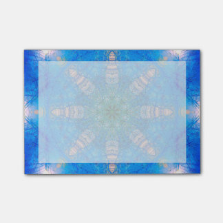 Vibrant Blue Star Mandala Post-it® Notes