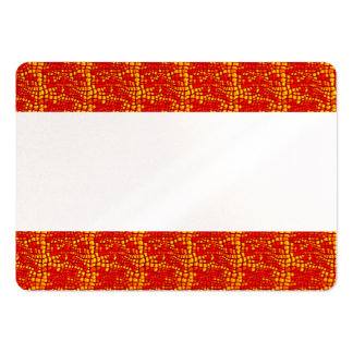 Vibrant Bold Red FAUX Snake Skin Business Card Template