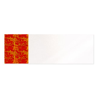Vibrant Bold Red Snake Skin Business Cards