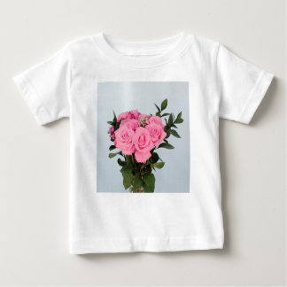 Vibrant Bouquet of Beautiful Pink Roses Baby T-Shirt