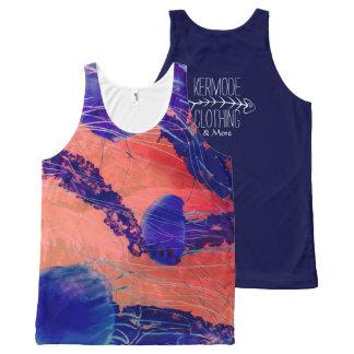 Vibrant Bright Jellyfish Print Tank