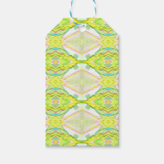 Vibrant Bright Lemon Lime Pastel Tribal
