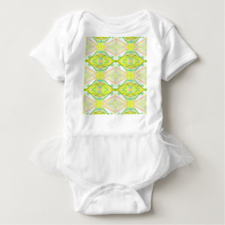 Vibrant Bright Lemon Lime Pastel Tribal Baby Bodysuit