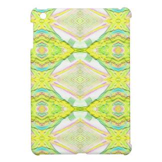 Vibrant Bright Lemon Lime Pastel Tribal Cover For The iPad Mini