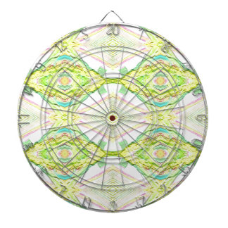 Vibrant Bright Lemon Lime Pastel Tribal Dartboard