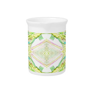Vibrant Bright Lemon Lime Pastel Tribal Pitcher