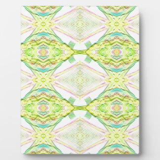 Vibrant Bright Lemon Lime Pastel Tribal Plaque